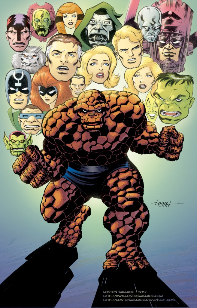 Thing and the Fantastic Four by Loston Wallace